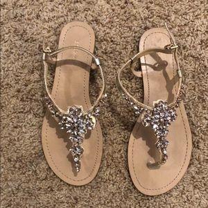 BCBG Bejeweled Sandals